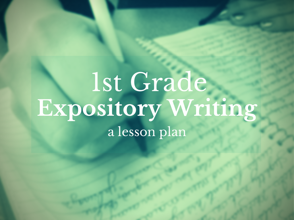 Writing an expository essay lesson plan