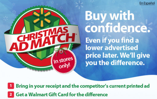 Traditional retail stores have learned to match the prices found on the internet. Especially during the holidays.