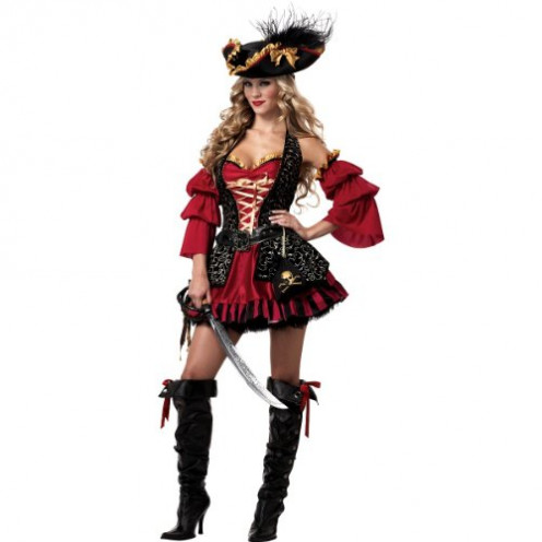 Red Pirate Halloween Costume