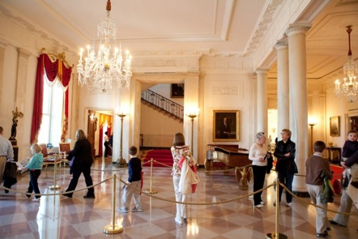 Entrance Hall. Inside the White House