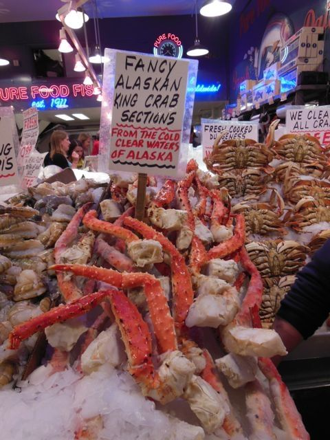Fresh crab, Seattle's Pike Market