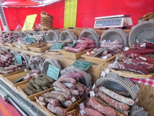 The most amazing sausage choices I ever saw was at a farmers market in France.