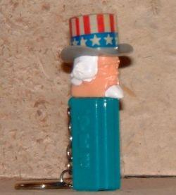 Uncle Sam mini-PEZ keychain