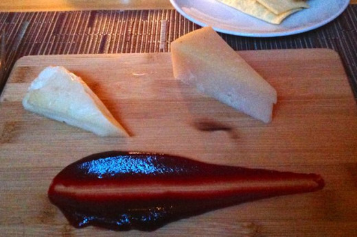 Just a simple smear of quince paste (or another tangy fruit) can set off the flavors of the cheese deliciously.