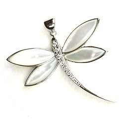 Mother of Pearl Dragonfly Pendant