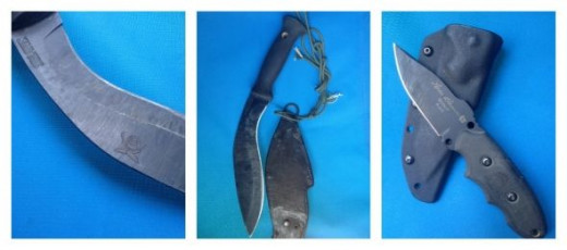 knife collage