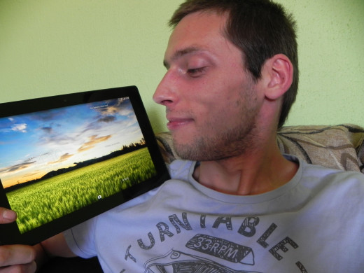 Yup, that's happy me with my Tablet.. :)
