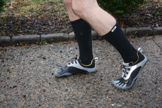 Do the compression socks make the look even cooler?  Who knows! But rain or shine, my husband rocks them both :)