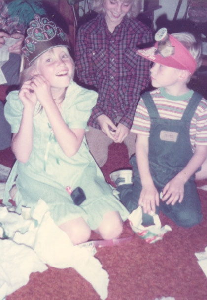 Sarah's tenth birthday party, where she was the princess.