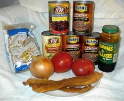 Ingredients for Stove-Top Beans