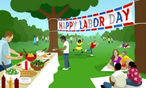 Iconic American workers and families Labor Day picnic