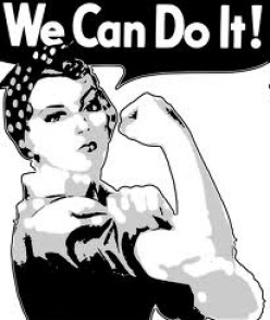 """""""Rosie, the Riveter,"""" saluting the women workforce during WWII"""