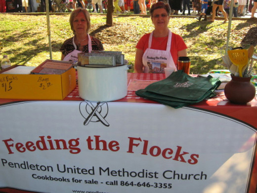 Church cookbook at Fall Festival