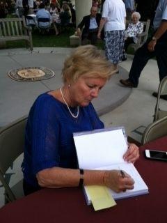 Ann Hampton signing Kimberlys Flight at Presbyterian College