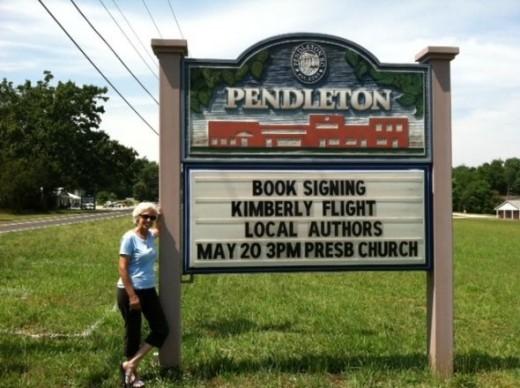 Kimberlys Flight book signing at Pendleton Presbyterian Church