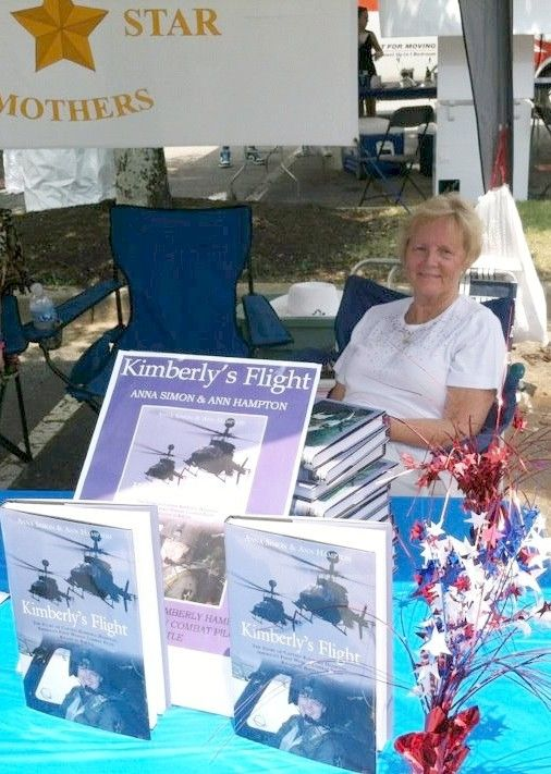 Ann Hampton signing Kimberlys Flight at Easley July 4 celebration