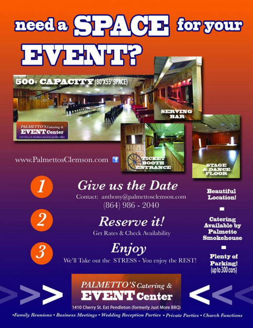 palmetto's catering and event center