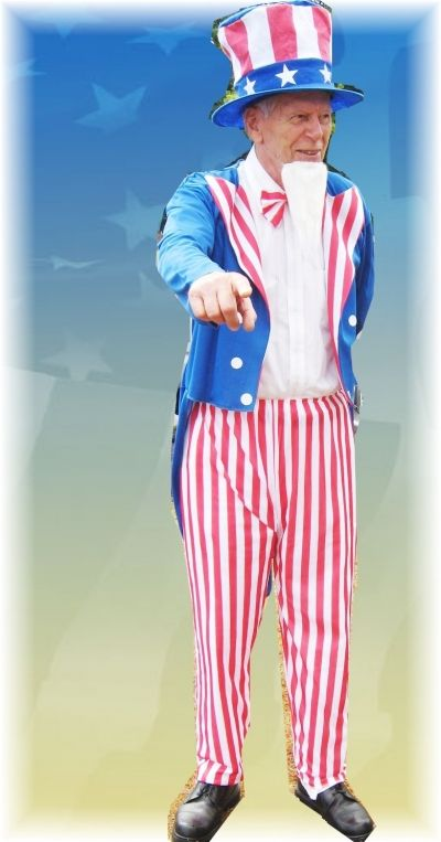 Fran as Uncle Sam for Freedom Fest 08
