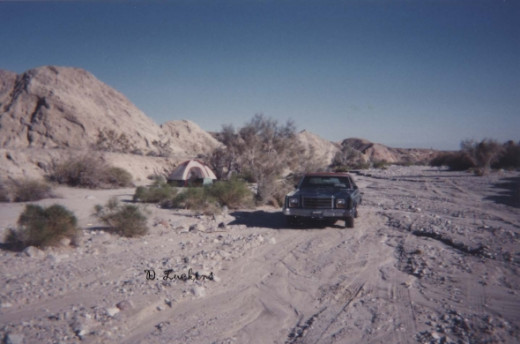 Another shot of the car out in the desert before it got painted.