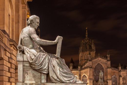 Statue of David Hume