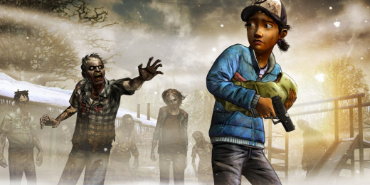 A promotional image for The Walking Dead Season 2 Episode 5 'No Going Back' featuring Clementine, child protagonist and this season's playable character.