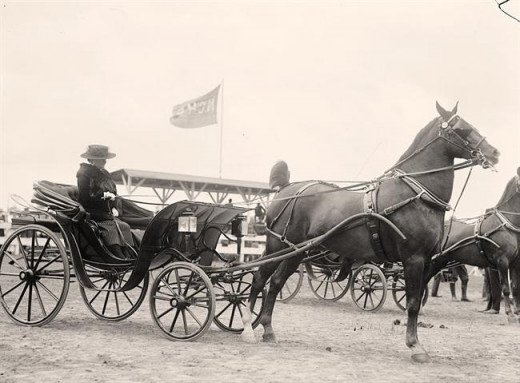 As you can see, the horse carriage bends at the front.  This is where the sleigh bed gets its form.