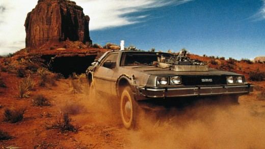 The DeLorean that Marty uses to travel back to 1885