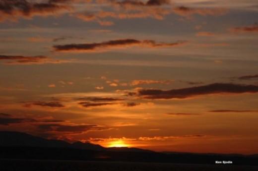skies on fire sunset