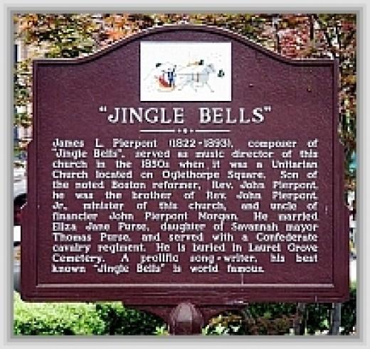 Jingle Bells: author plaque