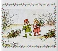 Holly and the ivy: vintage christmas card