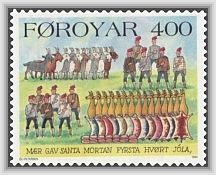 Twelve Days Of Christmas: Faroes stamp