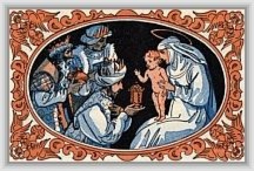We Three KIngs: Christmas Card Design