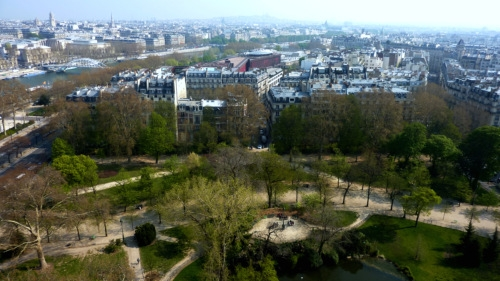 View from the Eiffel Tower in April 2010