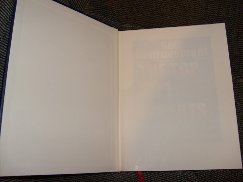 Inside cover showing self adhesive end papers