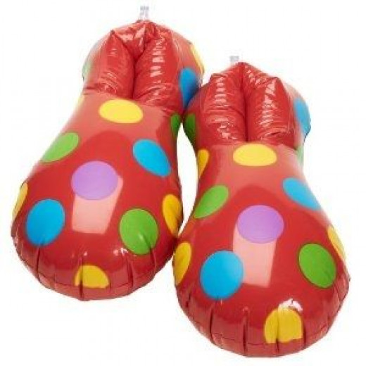 Inflatable Clown Shoes Party Supplies
