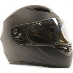 Adult Motorcycle Helmet Modular Flip Up Matte Black, Medium