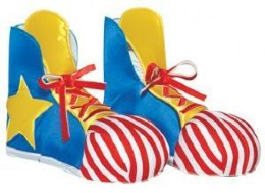 Clown Adult Shoe Covers One Size Fits Most Adults