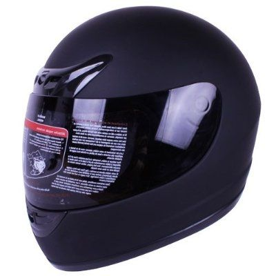 Matte Black Full Face Motorcycle Helmet DO