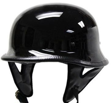 German Helmets - DOT German Motorcycle Helmet 115 Black