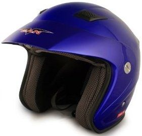 VCAN V526 Metro Blue X-Small Open Face Helmet