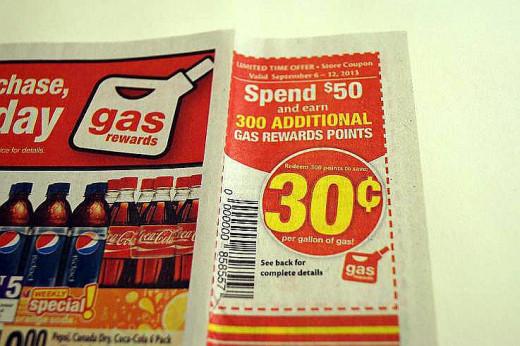 the extra special gas coupon.  spend $50 and receive 300 gas points.