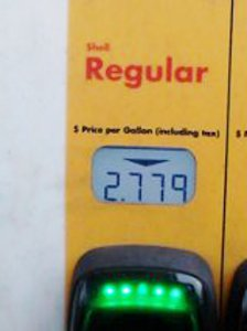 My final cost, $2.779 per gallon. Of course, I filled my tank.  I don't grocery shop at the old neighborhood as often now. It is worthwhile when I go.