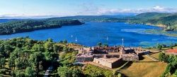 View of Lake Champlain from above Fort Ticonderoga