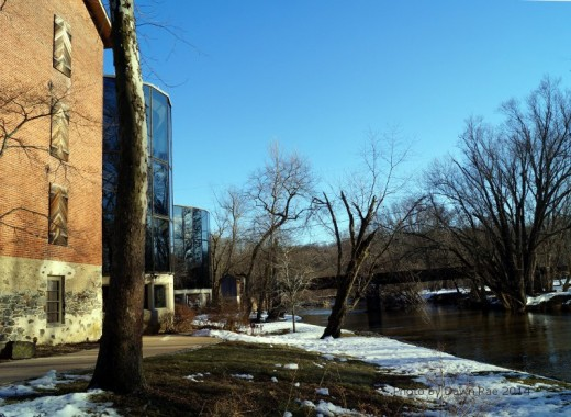 Brandywine Creek and path along the back side of the museum.
