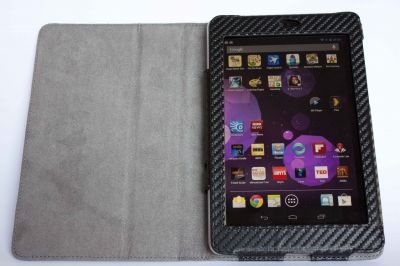 The Nexus 7 in a protective case