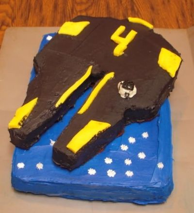Shaped Starship Cake