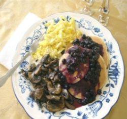 Breakfast Using Healthy Blueberries