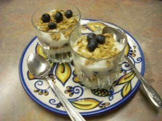 Blueberry Yogurt Cups
