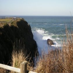 A Glimpse of the Pacific Ocean.