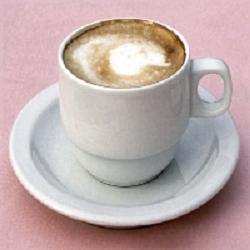 chocolate coffeecake and coffee